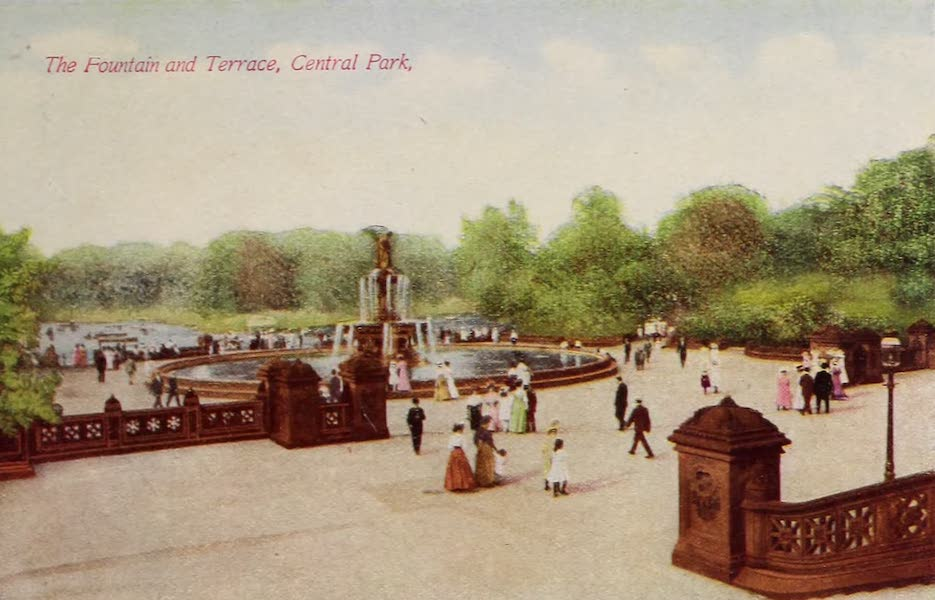 New York, The Empire City - The Fountain and Mall, Central Park (1910)