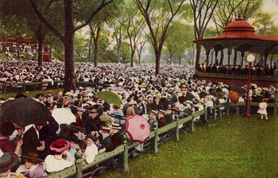 New York, The Empire City - Band Concert on the Mall (1910)