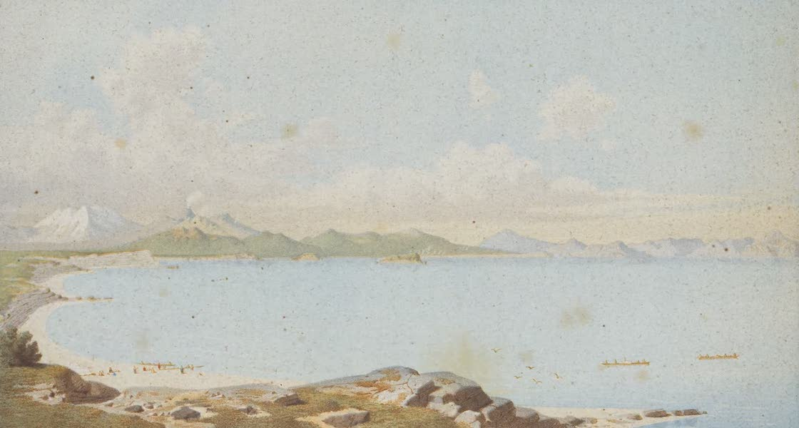 New Zealand : Its Physical Geography, Geology, and Natural History - Lake Taupo, North Island (1867)