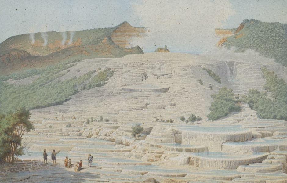 New Zealand : Its Physical Geography, Geology, and Natural History - Te Tarata on the Lake Rotomahana (1867)