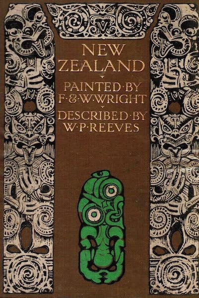 New Zealand, Painted and Described - Front Cover (1908)