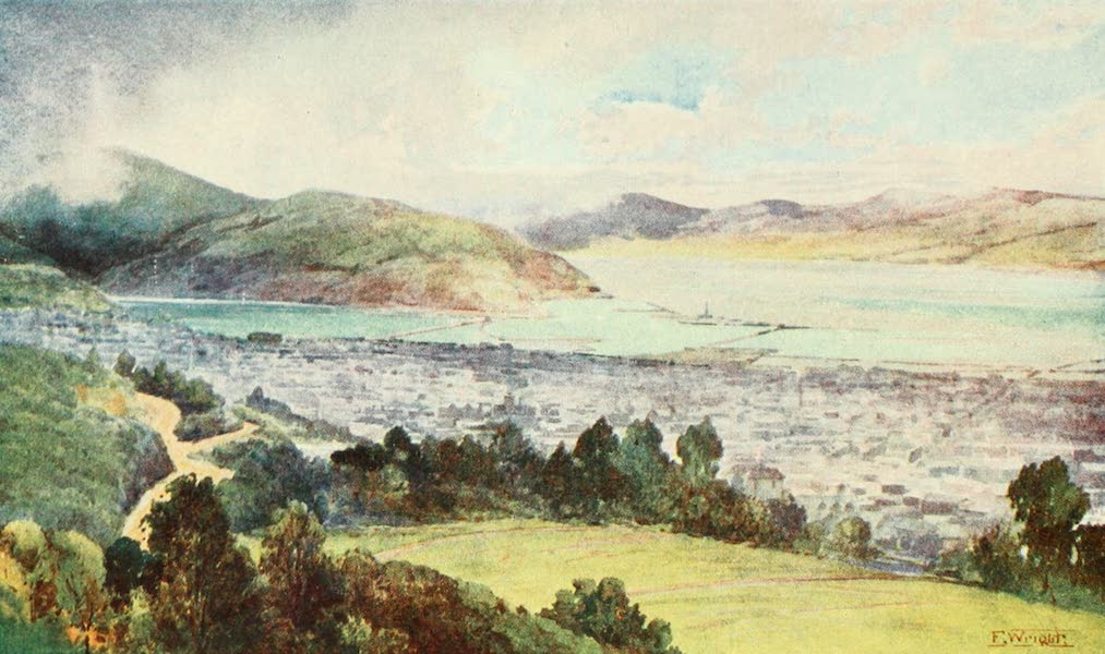 New Zealand, Painted and Described - Dunedin (1908)