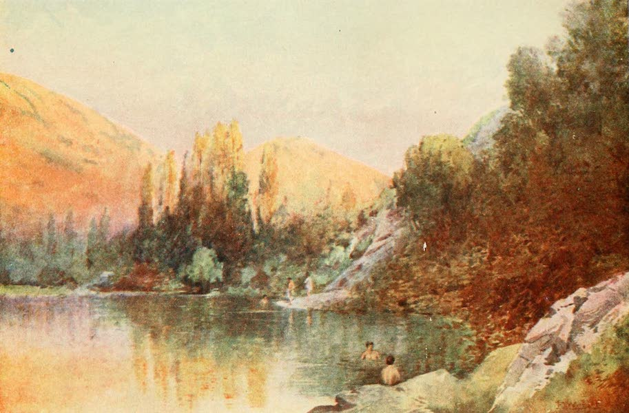 New Zealand, Painted and Described - The Bathing Pool (1908)