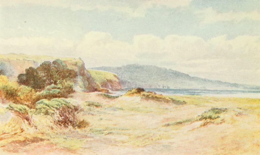 New Zealand, Painted and Described - On the Beach at Ngunguru (1908)