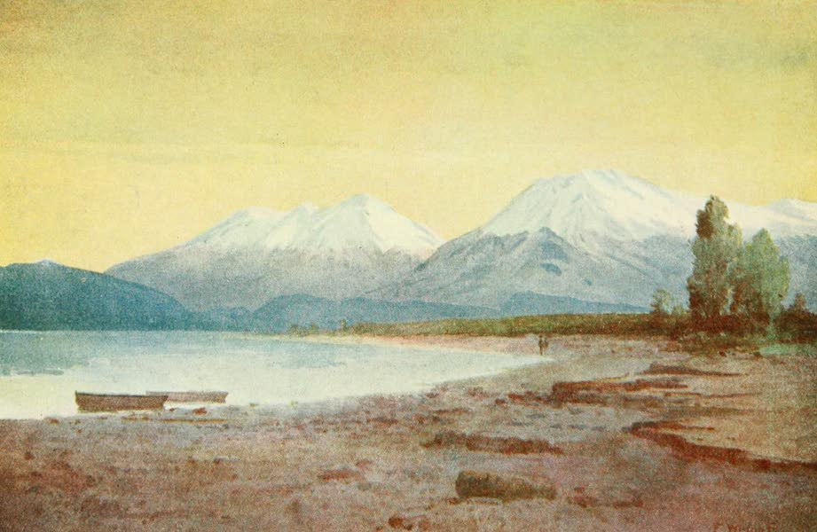 New Zealand, Painted and Described - At the Foot of Lake Te-Anau (1908)