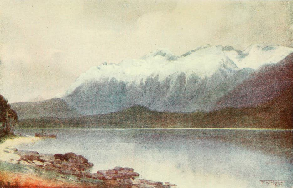 New Zealand, Painted and Described - Cathedral Peaks (1908)