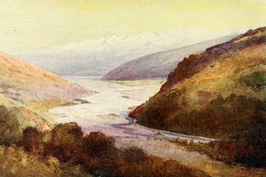 New Zealand, Painted and Described - The Rees Valley and Richardson Range (1908)
