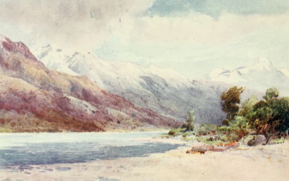 New Zealand, Painted and Described - At the Head of Lake Wakatipu (1908)