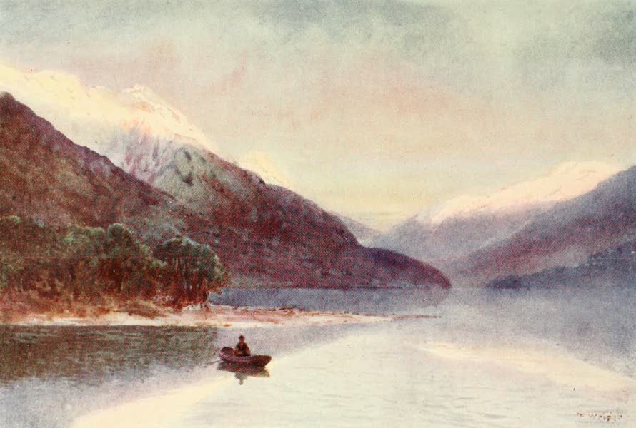 New Zealand, Painted and Described - North Fiord, Lake Te-Anau (1908)