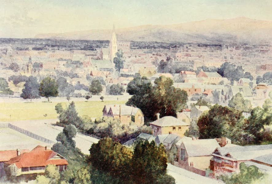 New Zealand, Painted and Described - Christchurch (1908)