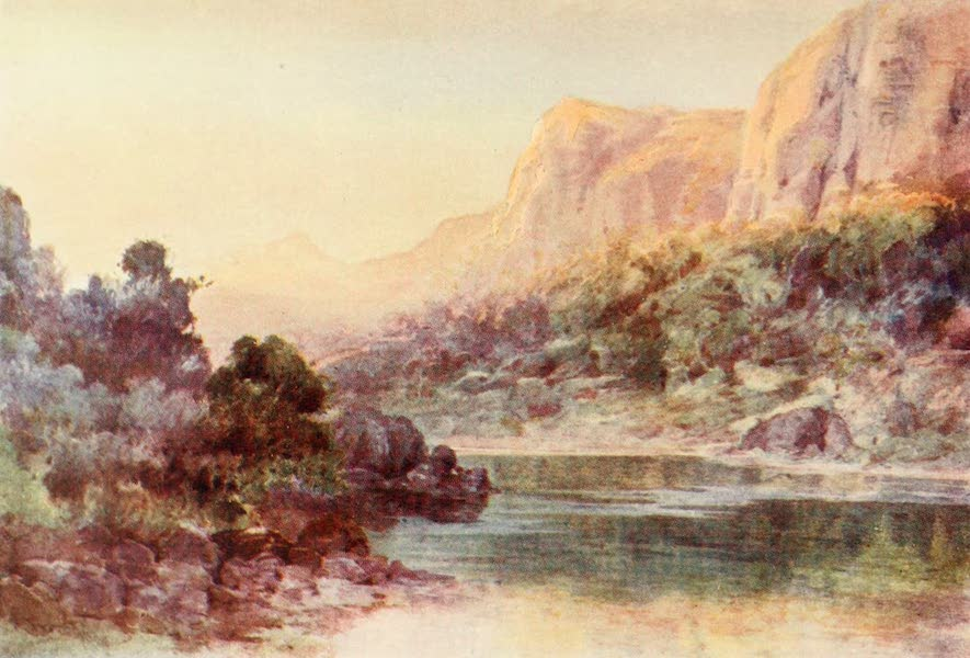 New Zealand, Painted and Described - Waihi Bay, Whangaroa Harbour (1908)