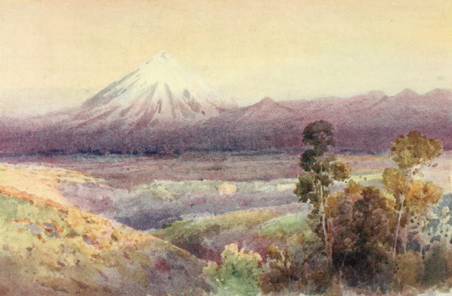 New Zealand, Painted and Described - Mount Egmont (1908)