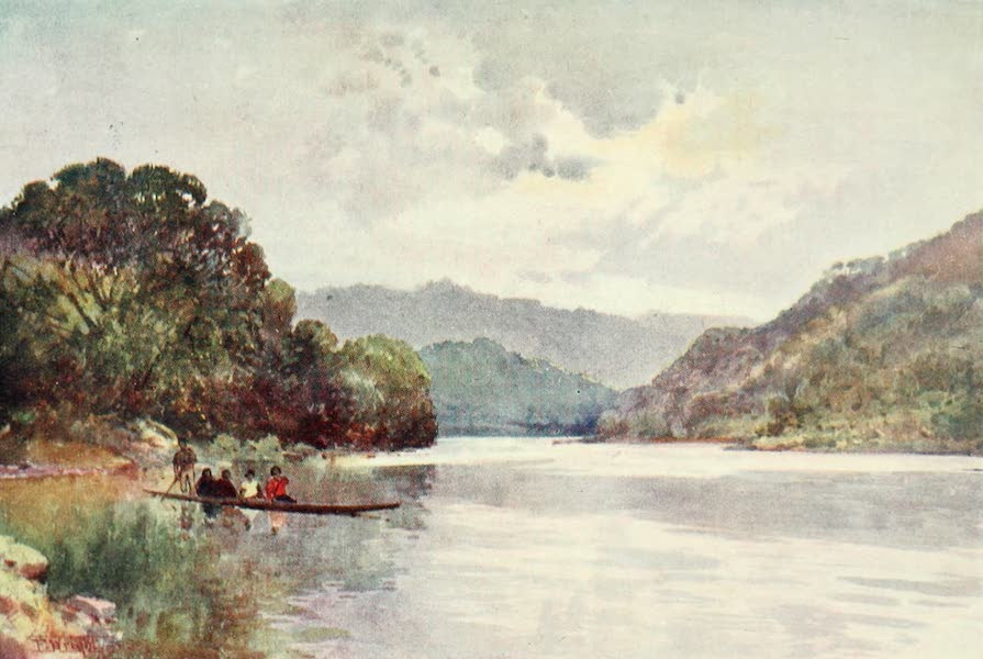 New Zealand, Painted and Described - Morning on the Wanganui River (1908)