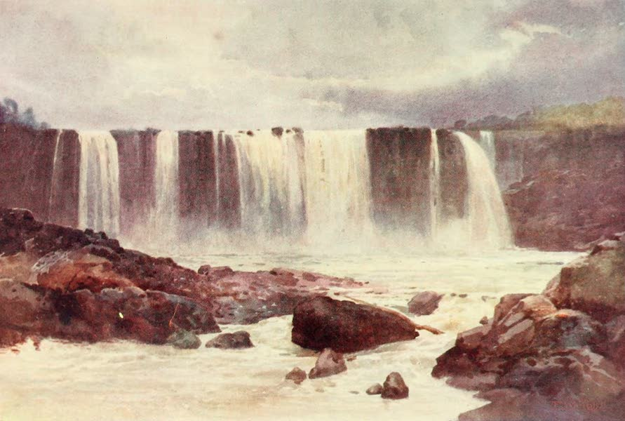 New Zealand, Painted and Described - Wairua Falls (1908)