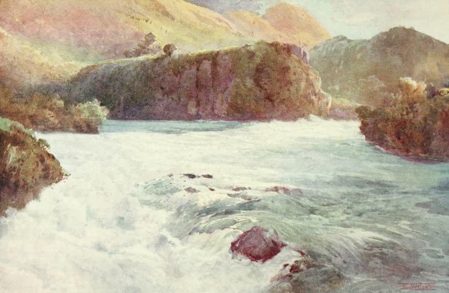 New Zealand, Painted and Described - Aratiatia Rapids (1908)