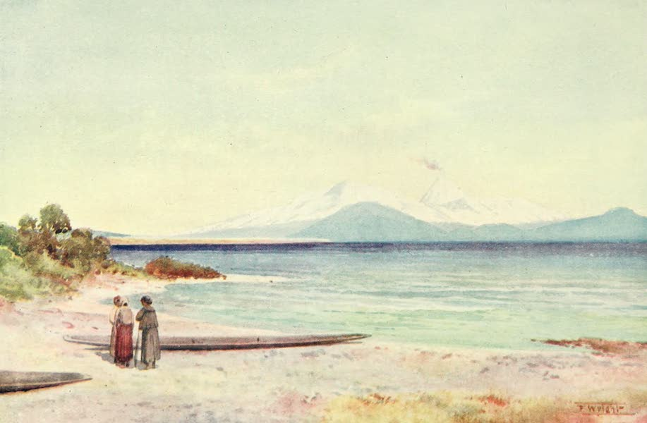 New Zealand, Painted and Described - Lake Taupo (1908)