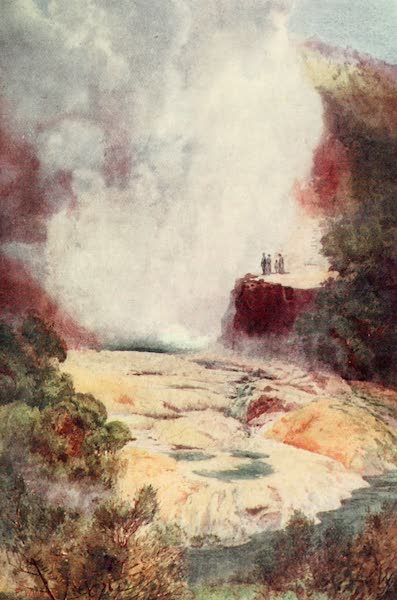 New Zealand, Painted and Described - The Champagne Cauldron (1908)