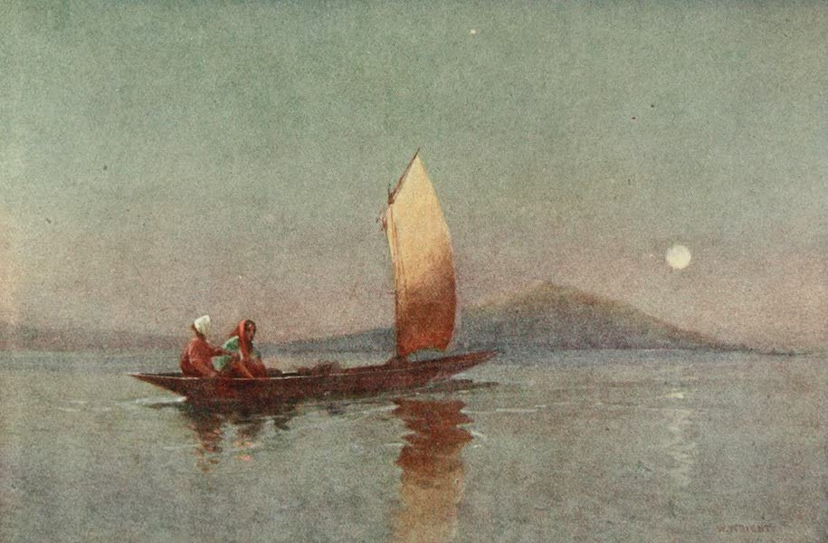 New Zealand, Painted and Described - Evening on Lake Roto-rua (1908)