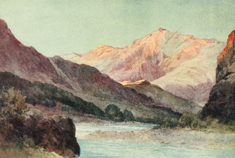 New Zealand, Painted and Described - The Wairau Gorge (1908)