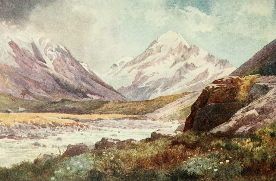 New Zealand, Painted and Described - Mount Cook (1908)