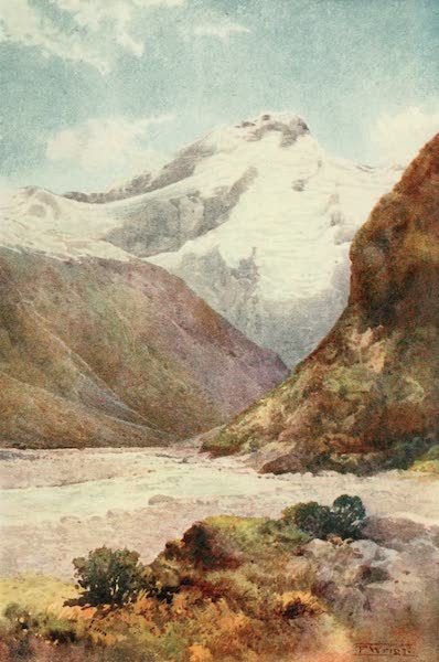 New Zealand, Painted and Described - Mount Sefton (1908)