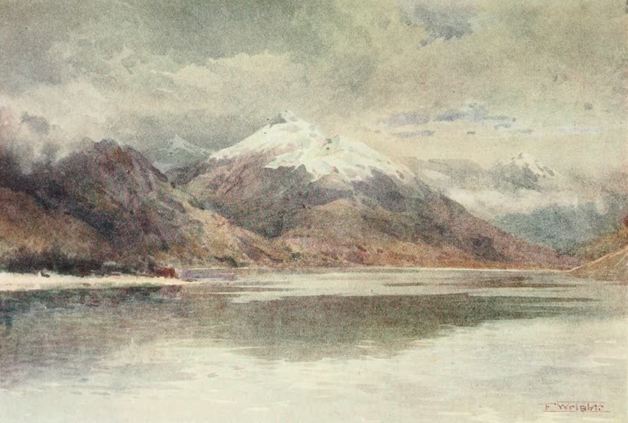 New Zealand, Painted and Described - The Cecil and Walter Peak (1908)