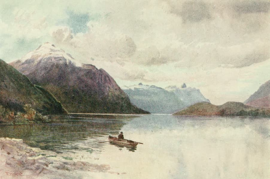 New Zealand, Painted and Described - Manapouri (1908)