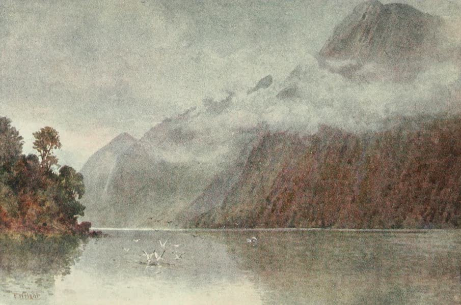 New Zealand, Painted and Described - In Milford Sound (1908)
