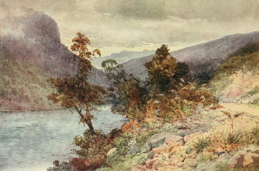 New Zealand, Painted and Described - The Buller River near Hawk's Craig (1908)