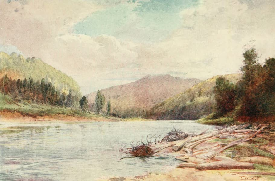 New Zealand, Painted and Described - Below the Junction of the Buller and Inangahua Rivers (1908)