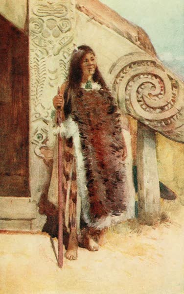 New Zealand, Painted and Described - A Maori Chieftainess (1908)