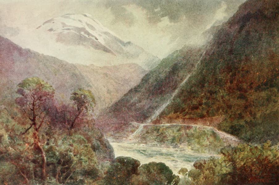 New Zealand, Painted and Described - The Otira Gorge (1908)