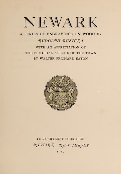 Newark; a Series of Engravings on Wood - Title Page (1917)