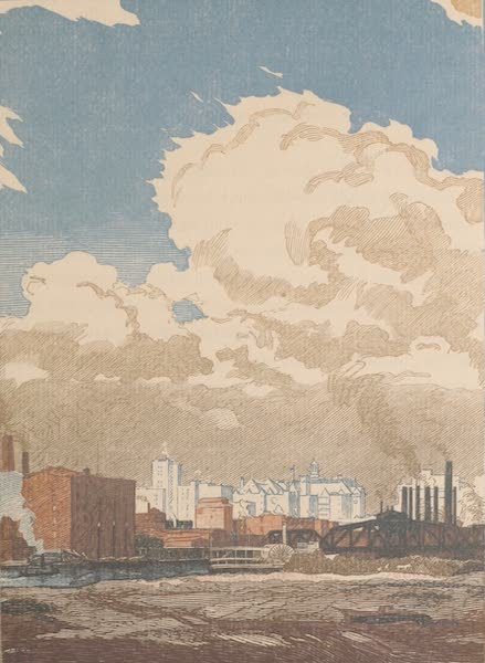 Newark; a Series of Engravings on Wood - A View of Newark from Harrison (1917)