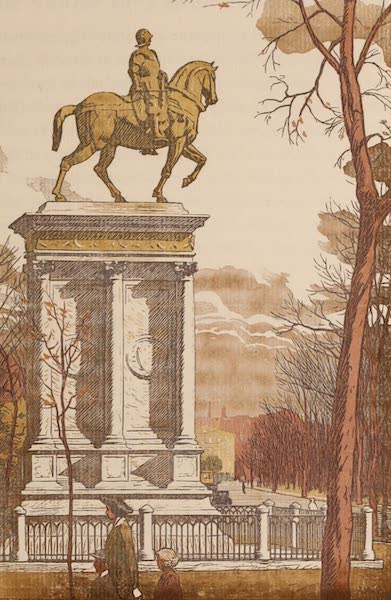 Newark; a Series of Engravings on Wood - The Newark Colleoni, Lincoln Park (1917)