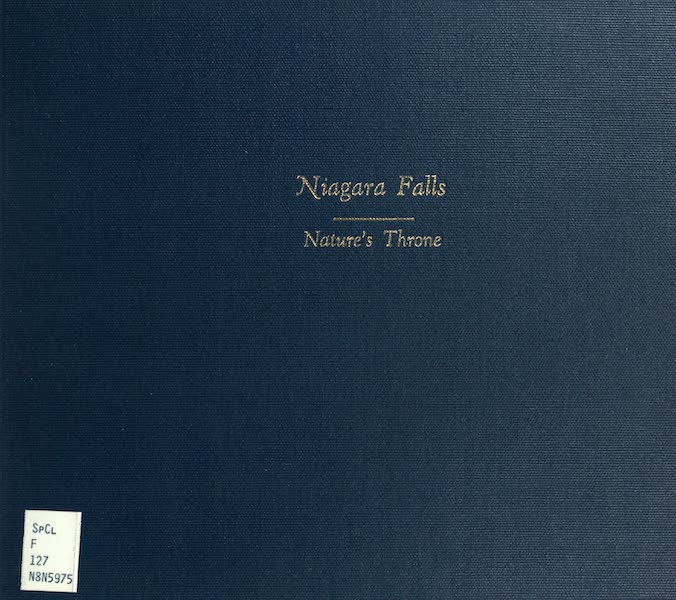 Niagara Falls, Nature's Throne - Front Cover (1907)