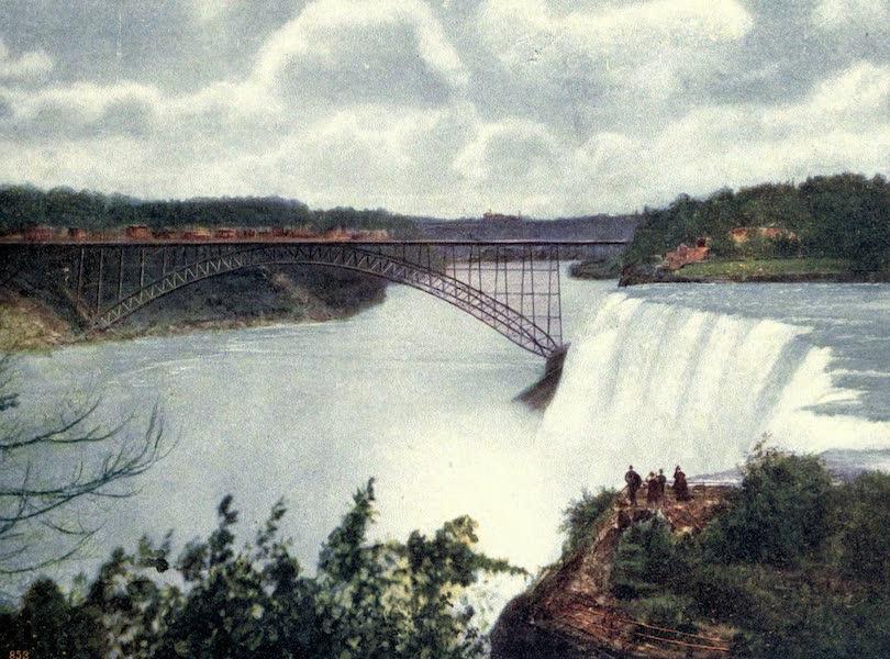 Niagara Falls, Nature's Throne - Steel Arch Bridge and American Fall from Goat Island (1907)