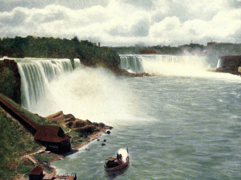 Niagara Falls, Nature's Throne - Panoramic View from Steel Arch Bridge (1907)