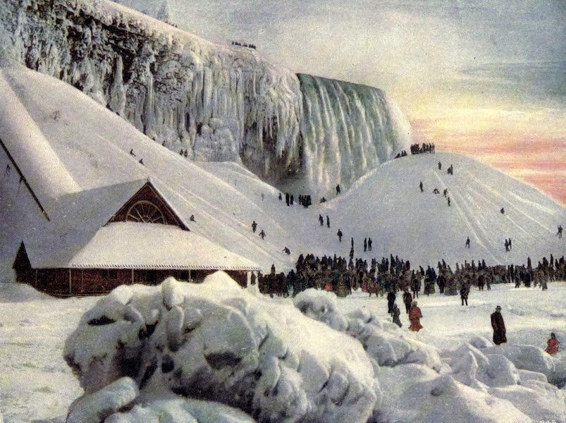 Niagara Falls, Nature's Throne - Below American Falls in Winter (1907)