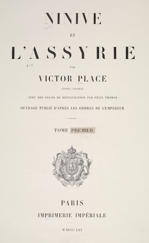 New York Public Library - Ninive et l'Assyrie Vol. 1