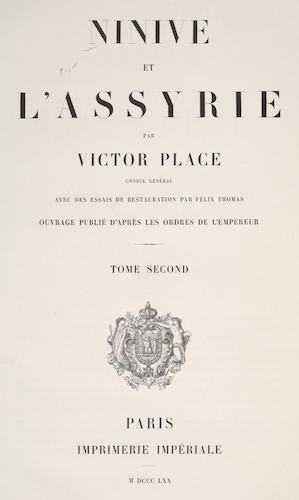 New York Public Library - Ninive et l'Assyrie Vol. 2