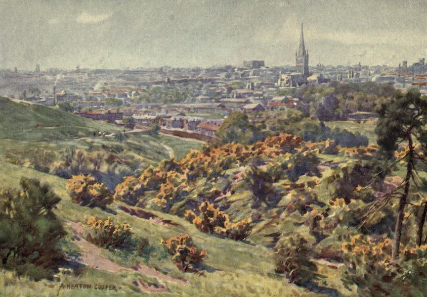 Norfolk and Suffolk Painted and Described - Norwich from Mousehold Heath, Norfolk (1921)