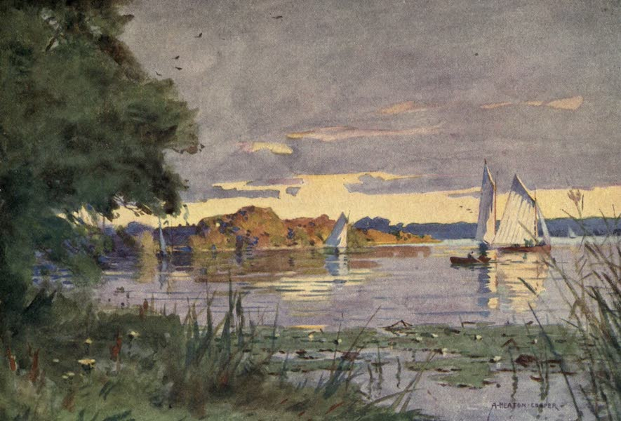 Norfolk and Suffolk Painted and Described - Oulton Broad, Suffolk (1921)