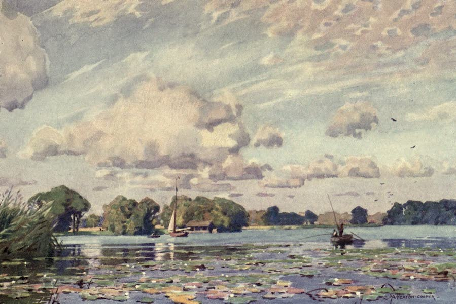 Norfolk and Suffolk Painted and Described - Barton Broad, Norfolk (1921)