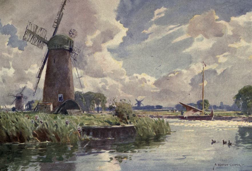 Norfolk and Suffolk Painted and Described - Windmills on the Thurne, Norfolk (1921)