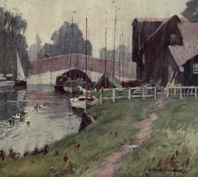 Norfolk and Suffolk Painted and Described - Wroxham Bridge, Norfolk - A Rainy Day (1921)