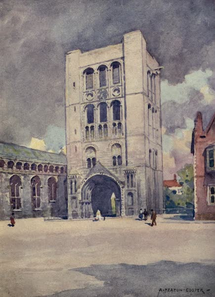 Norfolk and Suffolk Painted and Described - Norman Tower, Bury St. Edmund's, Suffolk (1921)