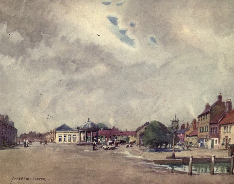 Norfolk and Suffolk Painted and Described - Swaffham Market Place, Norfolk (1921)