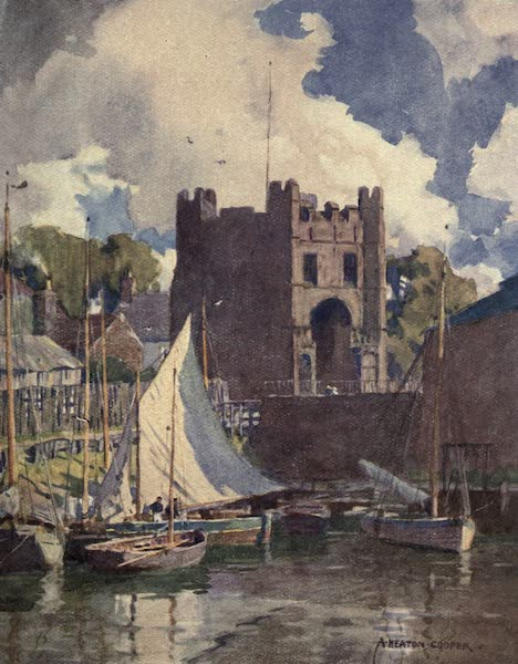Norfolk and Suffolk Painted and Described - The South Gate, King's Lynn, Norfolk (1921)