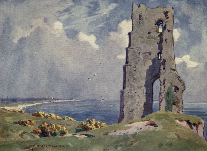 Norfolk and Suffolk Painted and Described - Ruins of All Saints' Church, Dunwich, Suffolk (1921)
